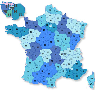 carte des locations en France